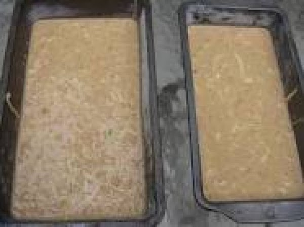 Bake in a greased and floured bread loaf pan, lined with Parchment paper.   ***makes...