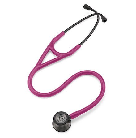 Littmann Cardiology IV Stethoscope Smoke Finish Chestpiece-Rasberry Tube