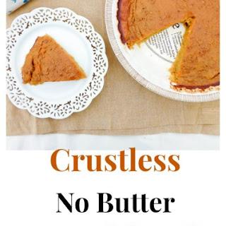 Crustless No butter Pumpkin Pie.