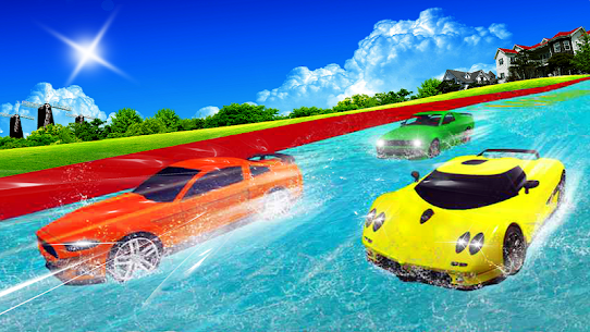 Water Slide Car Racing adventure 2019 2