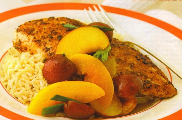 Jerked Chicken With Fruit Recipe