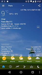 Transparent clock & weather Screenshot 2