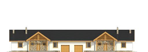 Modraszka z garażem 1-st. bliźniak A-BL1 - Elewacja przednia