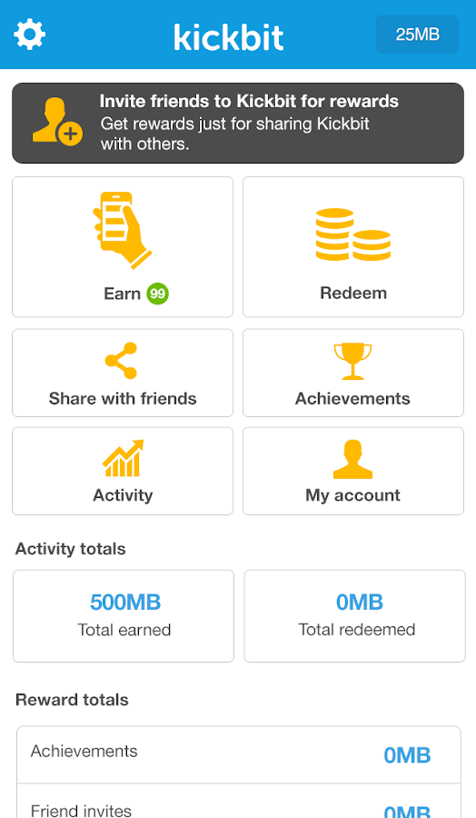 Kickbit, More Mobile Data- screenshot