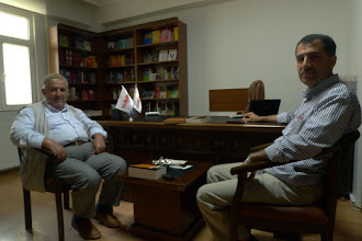 Photo: Ibrahim Halil Azarkan and Abdullah Şahin from Nûbihar association, Diyarbakir, 2015