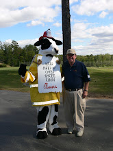 Photo: Chick-Fil-A Mascot and Mike