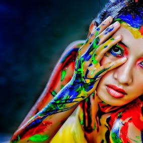 Women in color #2 by An'naas Sobrie Al Arif - People Portraits of Women ( color, art, women, people )