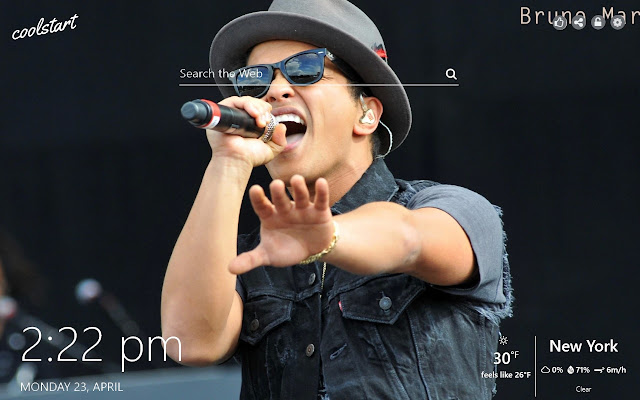 Bruno Mars HD Wallpapers Music New Tab Theme