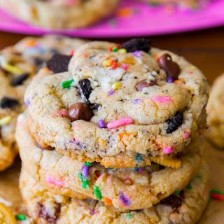 Cake Batter Oreo Cookies.