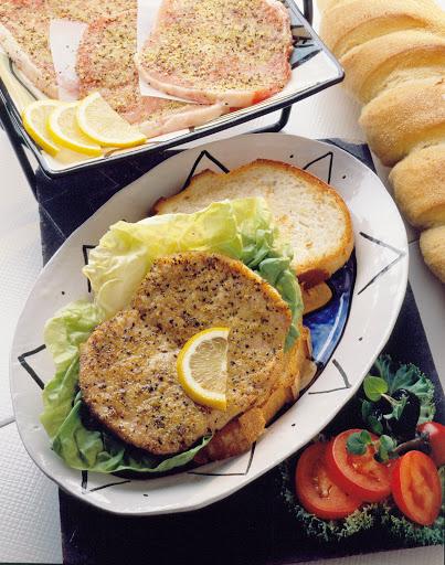 Pork Piccata Sandwiches