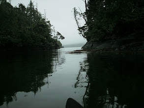 Photo: Leaving Shelter Bay.