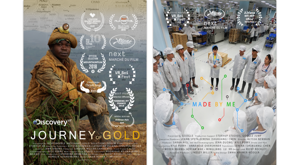 Movie Posters for Journey of Gold and Made by Me