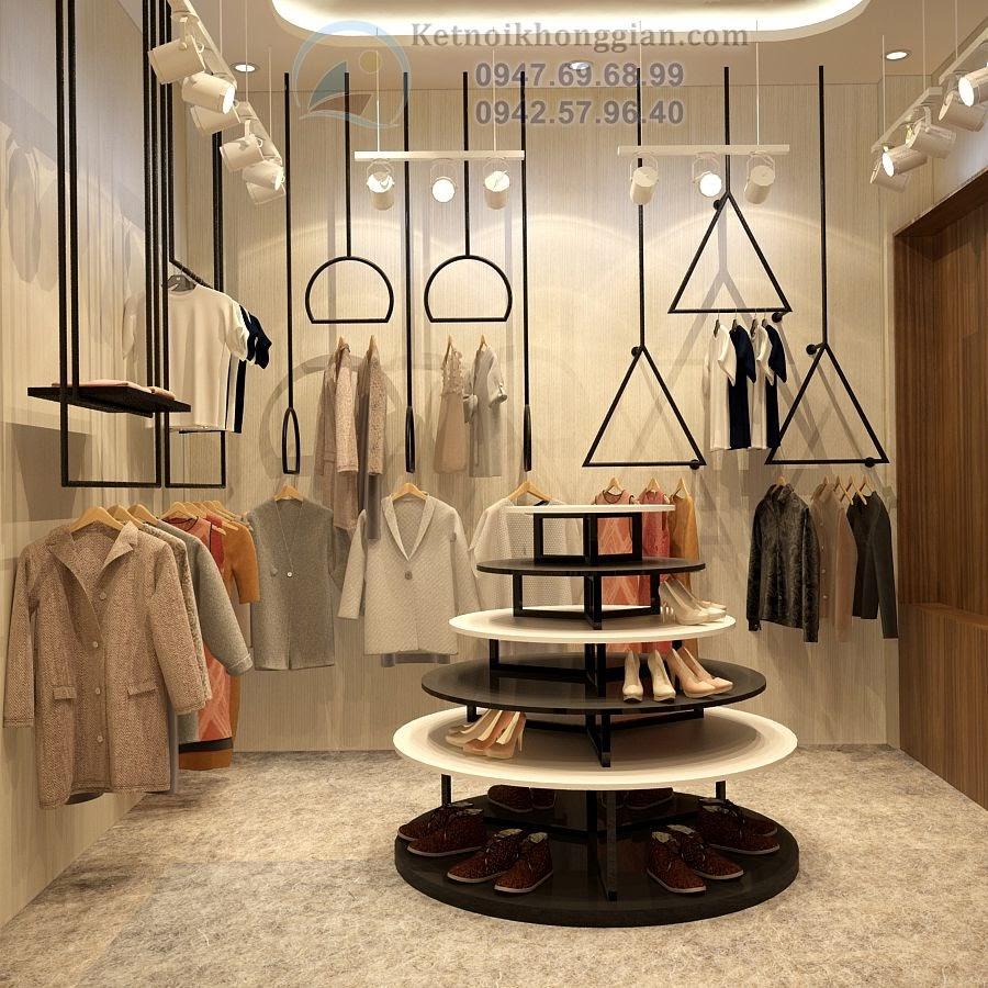 thiết kế shop thời trang thiêt kế shop giày dép