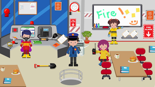 Pretend Play Fire Station: Town Firefighter Story android2mod screenshots 5