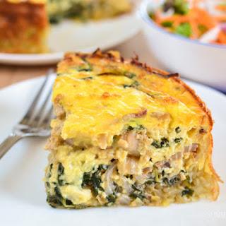 Chicken and Spinach Quiche Recipe