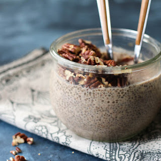 Toasted Maple Pecan Overnight Chia Pudding.