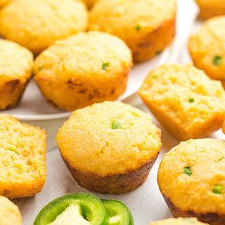 Healthy Jalapeño Cheddar Cornbread Mini Muffins.