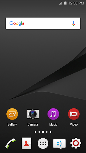 Wave Z5 Launcher Theme