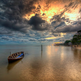 Leaving Now by Arief Wardhana - Transportation Boats