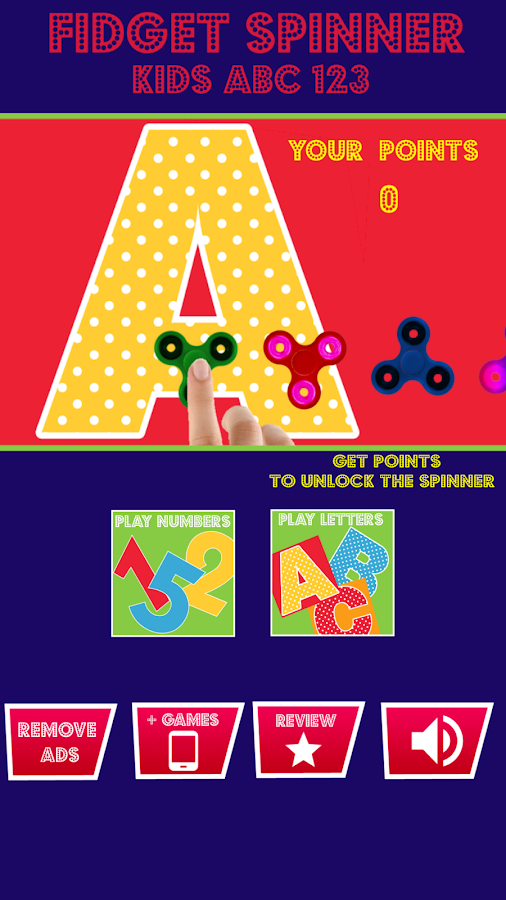 Fidget Spinner Kids ABC 123- screenshot