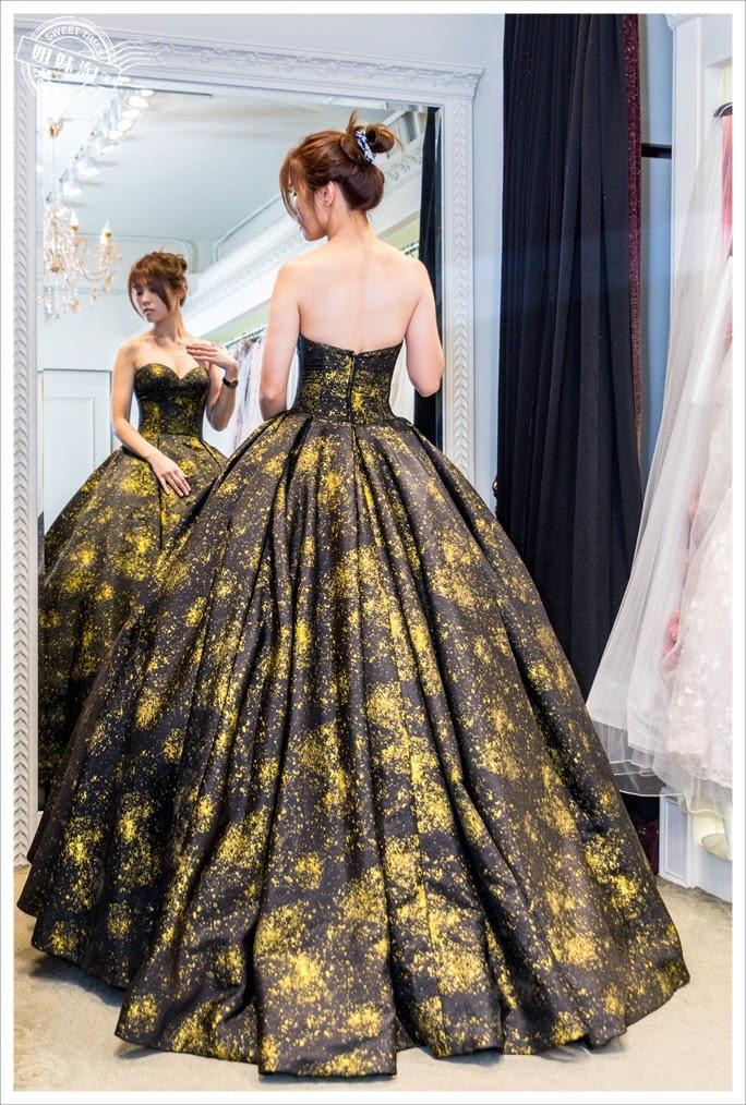 聖羅雅婚紗黑色宴會服