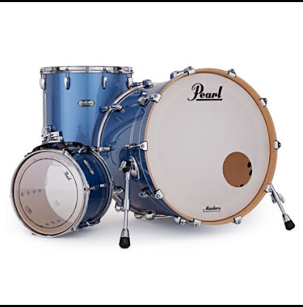 """Pearl Masters Maple Complete - 24""""-set - Chrome Contrail"""