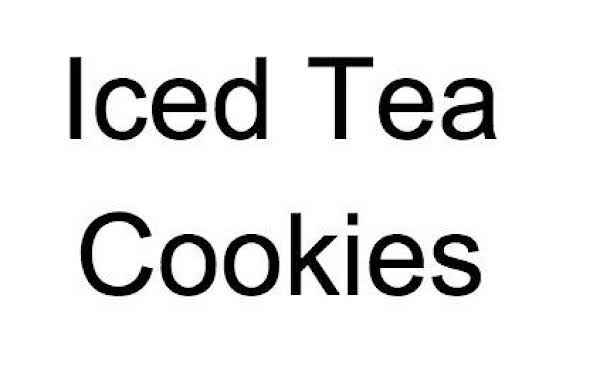 Iced Tea Cookies Recipe