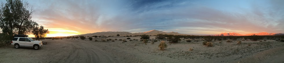 Photo: Kelso Dunes and the Providence Mountains at sunset, Mojave National Preserve