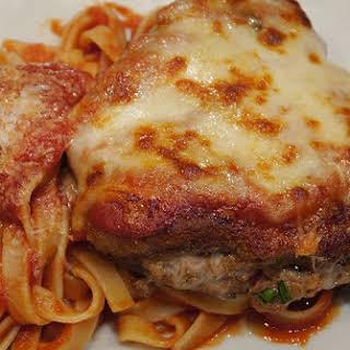 Stuffed Veal Chop Parmesan.