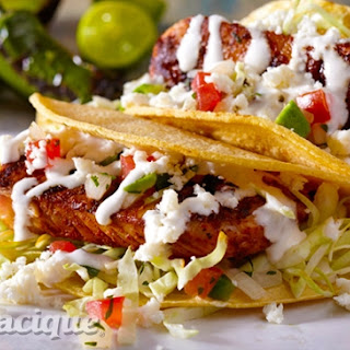 Grilled Fish Tacos with Tequila-Lime Crema.