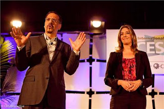 Photo: Brian Cooley and Molly Wood at CNET's Next Big Thing - Photo by Sarah Tew