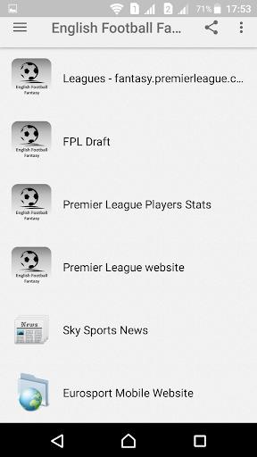 English Football Fantasy  screenshots 1