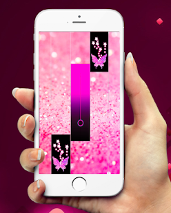 Pink Glitter Piano Tiles Butterfly