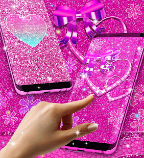 Pink glitter live wallpaper apps on google play screenshot image altavistaventures Image collections