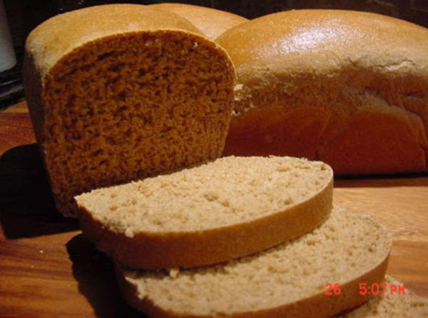 Whole Wheat Bread  4 Loaves Recipe
