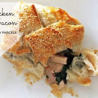 Chicken and Bacon Puff Pastry Parcels