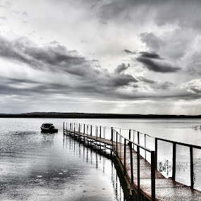 A path to silence by AhMet özKan - Landscapes Waterscapes ( clouds, water, path, lake, landscape, pwcpaths )