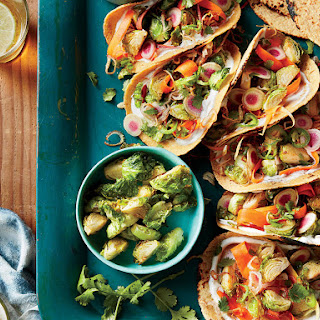 Fried Brussels Sprout Tacos.