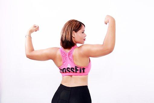 Women, Strong, Exercise, Crossfit, Arms