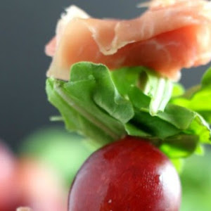 Grape and Prosciutto Skewers Appetizer