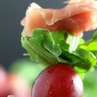 Grape and Prosciutto Skewers Appetizer.