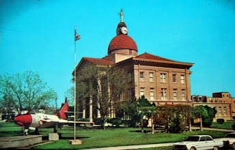 Photo: Beeville Court House F-9 on display Picture taken in the mid '60's