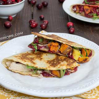 Thanksgiving Turkey Quesadilla