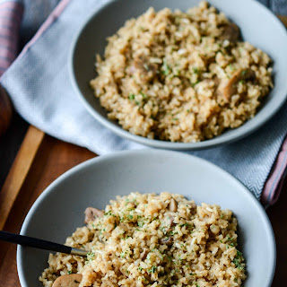 Slow Cooker Rustic Herbed Brown Rice Recipe