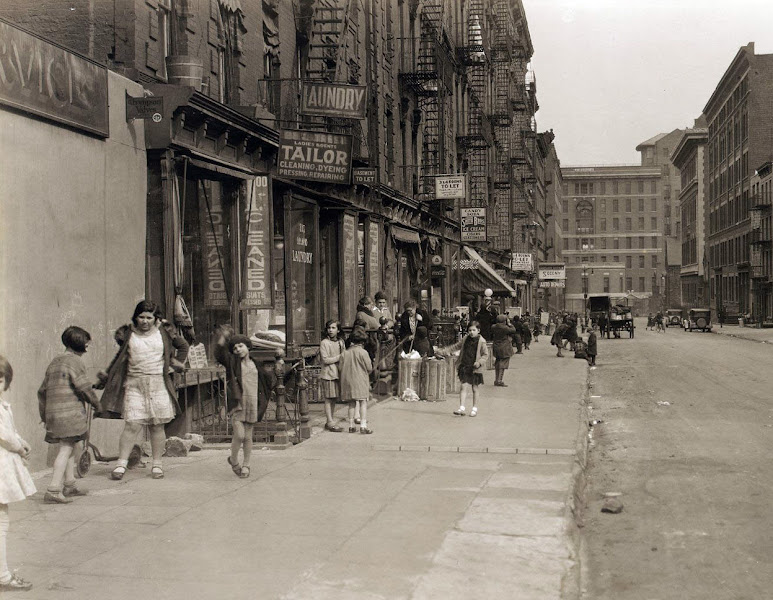 Photo: 28th Street Looking east from Second Avenue, on April 4, 1931. Google map streetview today here. (Courtesy NYC Municipal Archives)