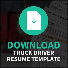 DOWNLOAD Truck Driver Resumer Template