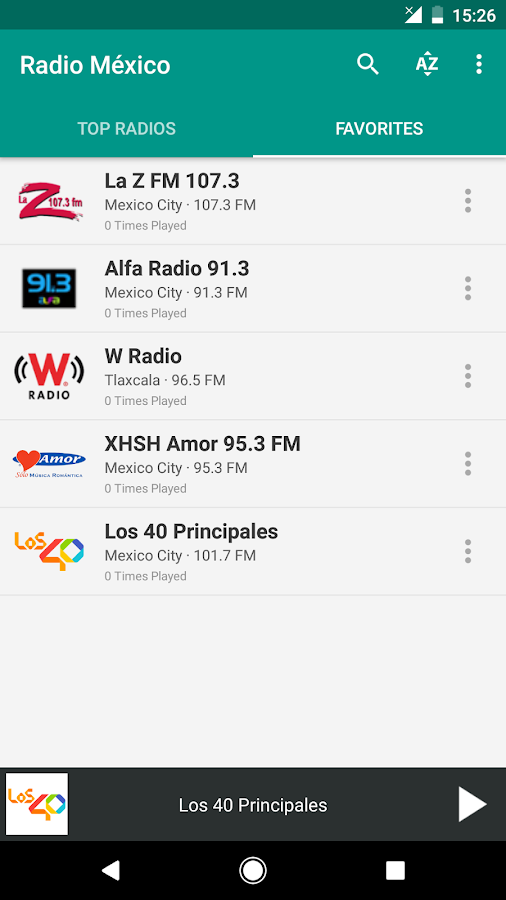 Radio México- screenshot