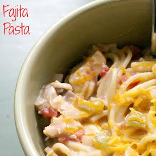 Crock Pot Chicken Fajita Pasta.