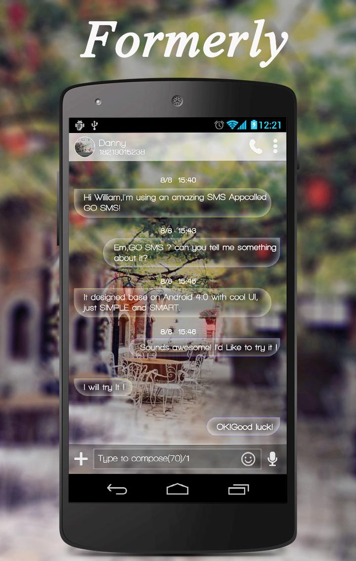 Скриншот GO SMS PRO FORMERLY THEME