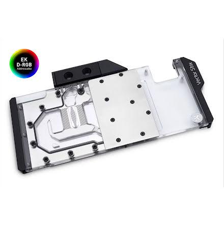 EK vannblokk for skjermkort, EK-Quantum Vector Strix RTX 2080 D-RGB - Nickel + Plexi